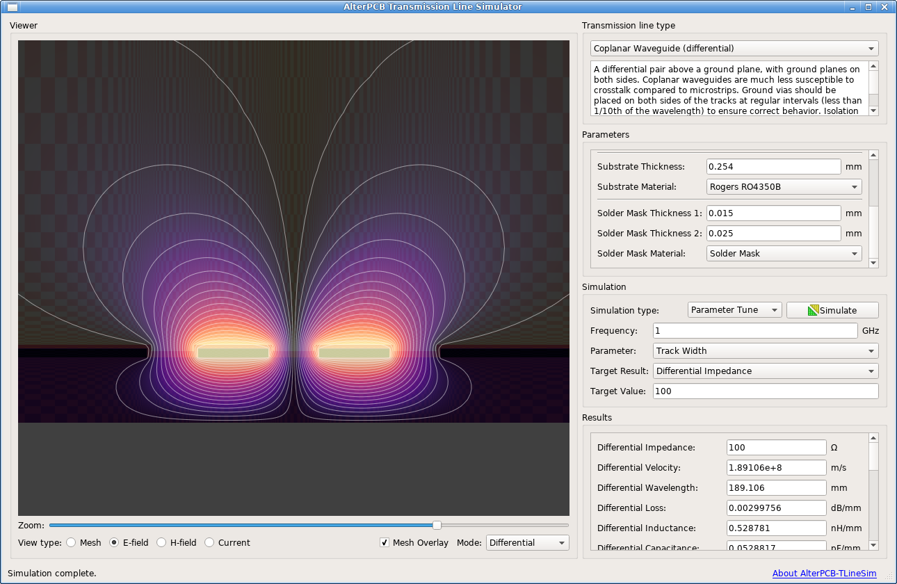 AlterPCB-TLineSim: an open-source transmission line simulation tool ...